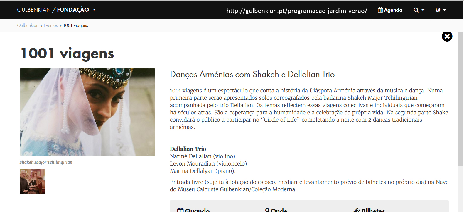 Shakeh Gulbenkian program